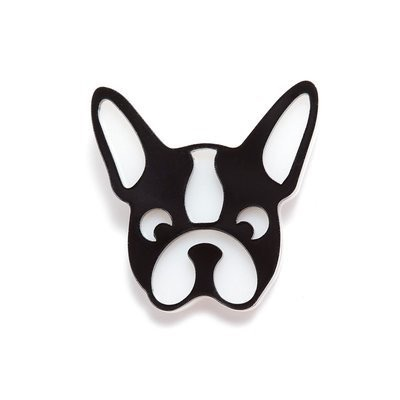 BECKER MINTY Bulldog - Dog Brooch - Laser Cut Plexiglass - From Russia with Love