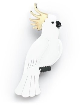 BECKER MINTY Cockatoo Brooch - Laser Cut Plexiglass - From Russia with Love