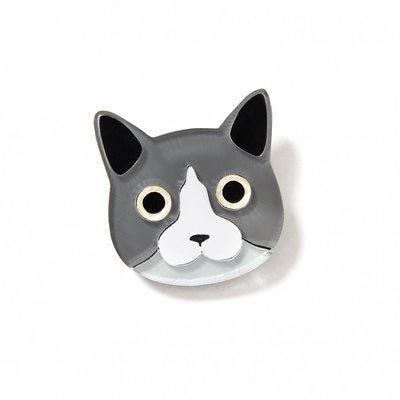BECKER MINTY Cat Brooch - Laser Cut Plexiglass - From Russia with Love
