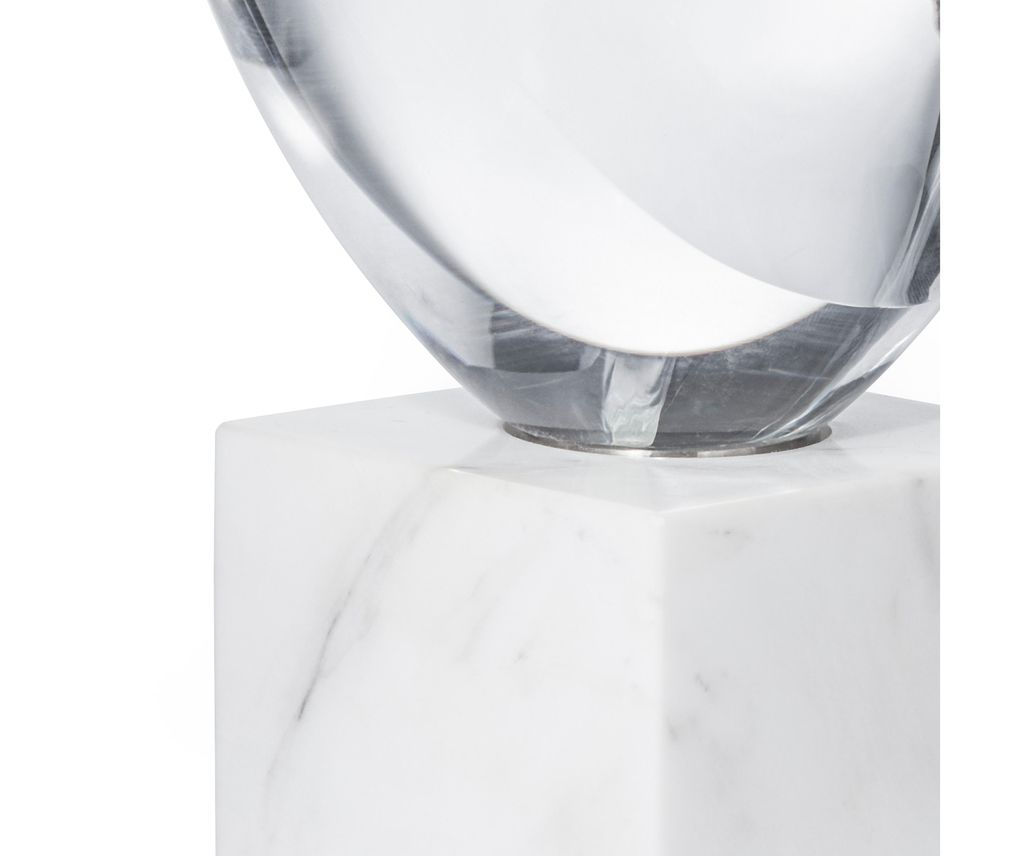 AERIN - Maxim Objet - Glass and Marble Sculpture - H30x14x14cm