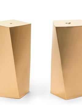 AERIN - Leon Salt and Pepper Shakers - Brass - H7.5cm