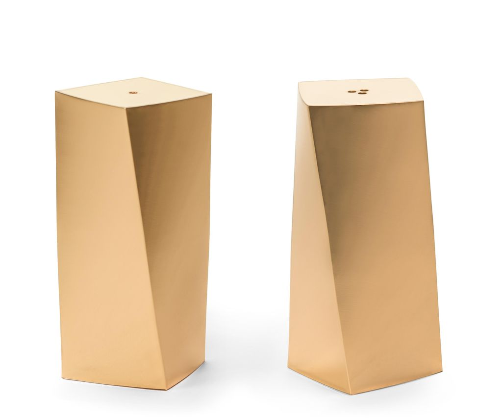 AERIN - Leon Salt and Pepper Shakers - Brass - H7.5cm