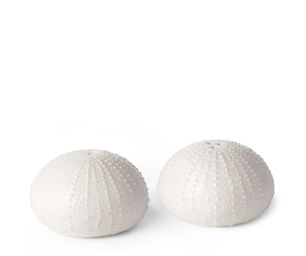 AERIN - Sea Urchin Salt and Pepper - White Ceramic