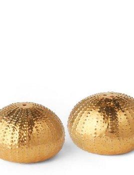 AERIN - Sea Urchin Salt and Pepper - Gold Ceramic