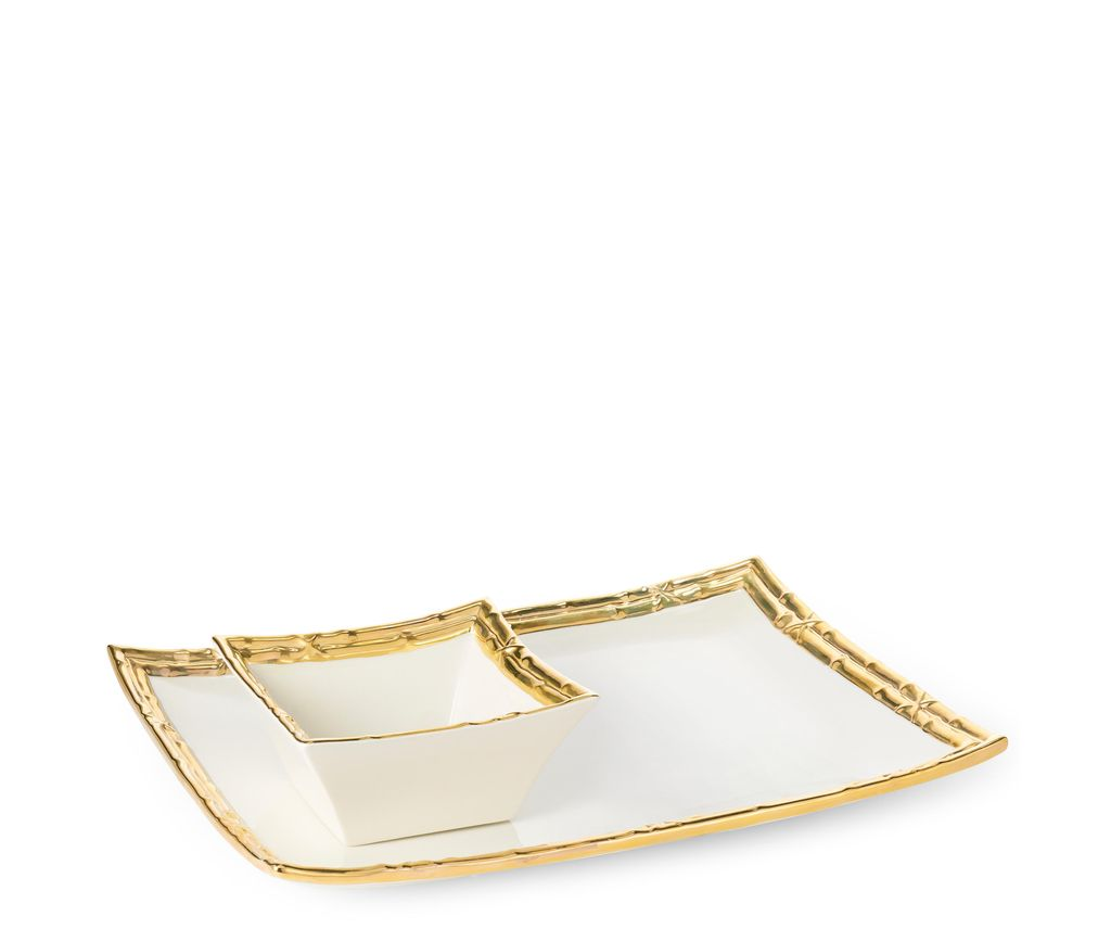 AERIN - Mayotte Chip and Dip - Ceramic