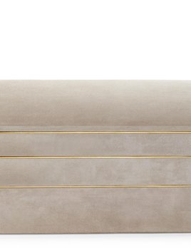 Aerin AERIN - Valentina Suede Stacked Jewellery Box - 29x21.5xm H15cm - Dune
