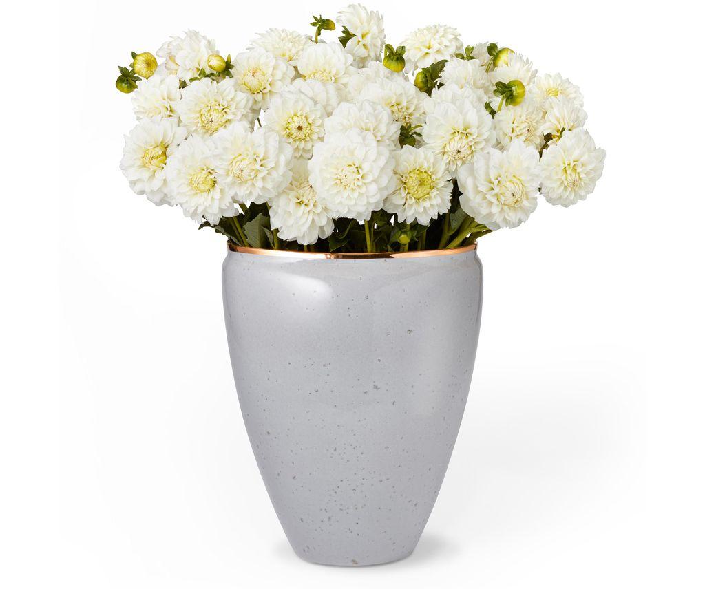 """AERIN - Paros Vase - Large - Ceramic - Dimensions: 8.3""""l x 6.5""""w x 10.3""""h - Made in Italy"""
