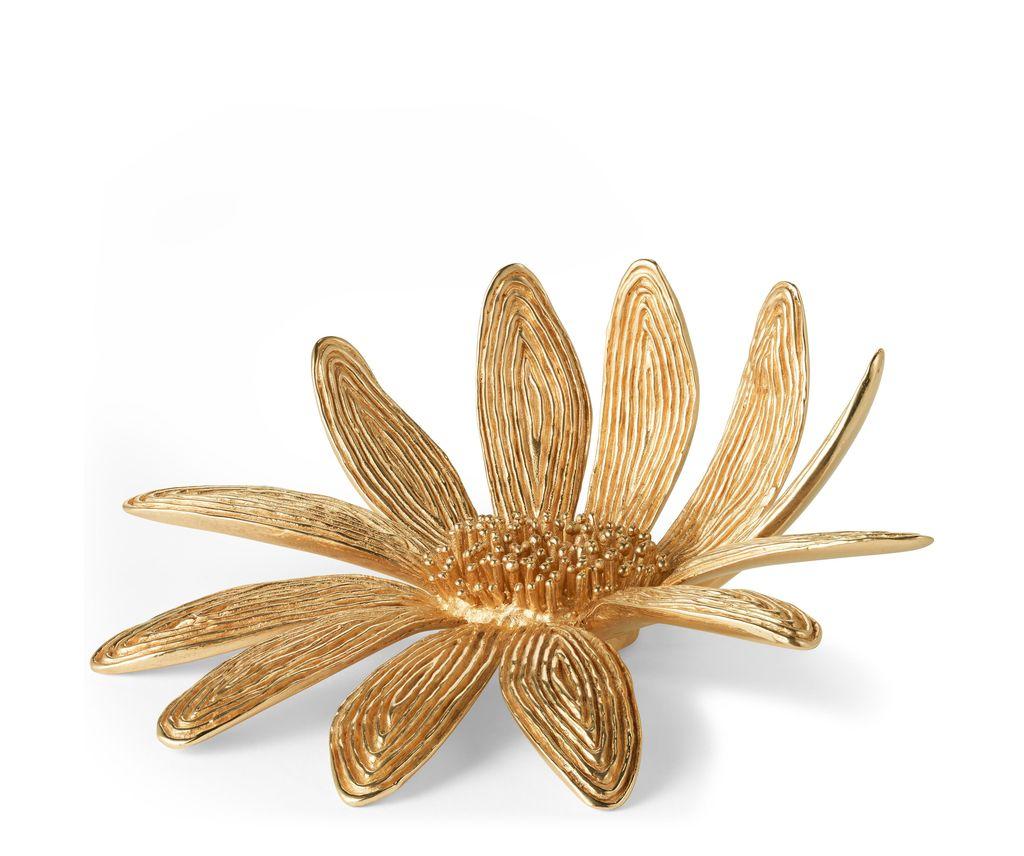AERIN - Marguerite Brass Flower - Dimensions: 5.3l x 4.8w x 2h - Brass