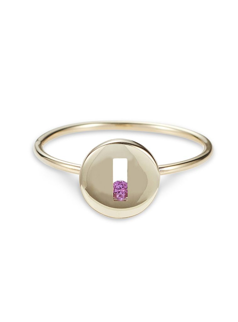 Luke Rose - Rolling Rock Ring - 9ct Yellow Gold - Available in Black, White, Pink, Blue, Yellow Sapphire, Tsavorite Garnet and Amethyst