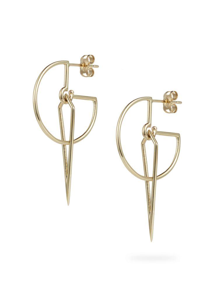 Luke Rose - Sundial Hoop Earrings - 9ct Yellow Gold