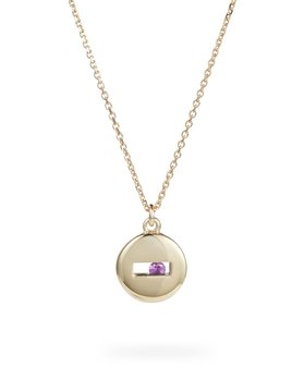 Luke Rose - Rolling Rock Necklace - 9ct Yellow Gold - Available in Black, White, Pink, Blue, Yellow Sapphire, Tsavorite Garnet and Amethyst