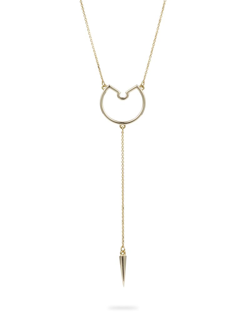 Luke Rose - Small Pendulum Hoop Necklace - 9ct Yellow Gold -