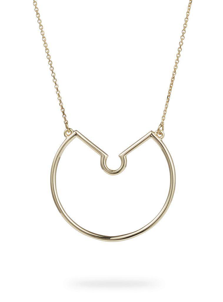 Luke Rose - Large Naked Hoop Necklace - 9ct Yellow Gold