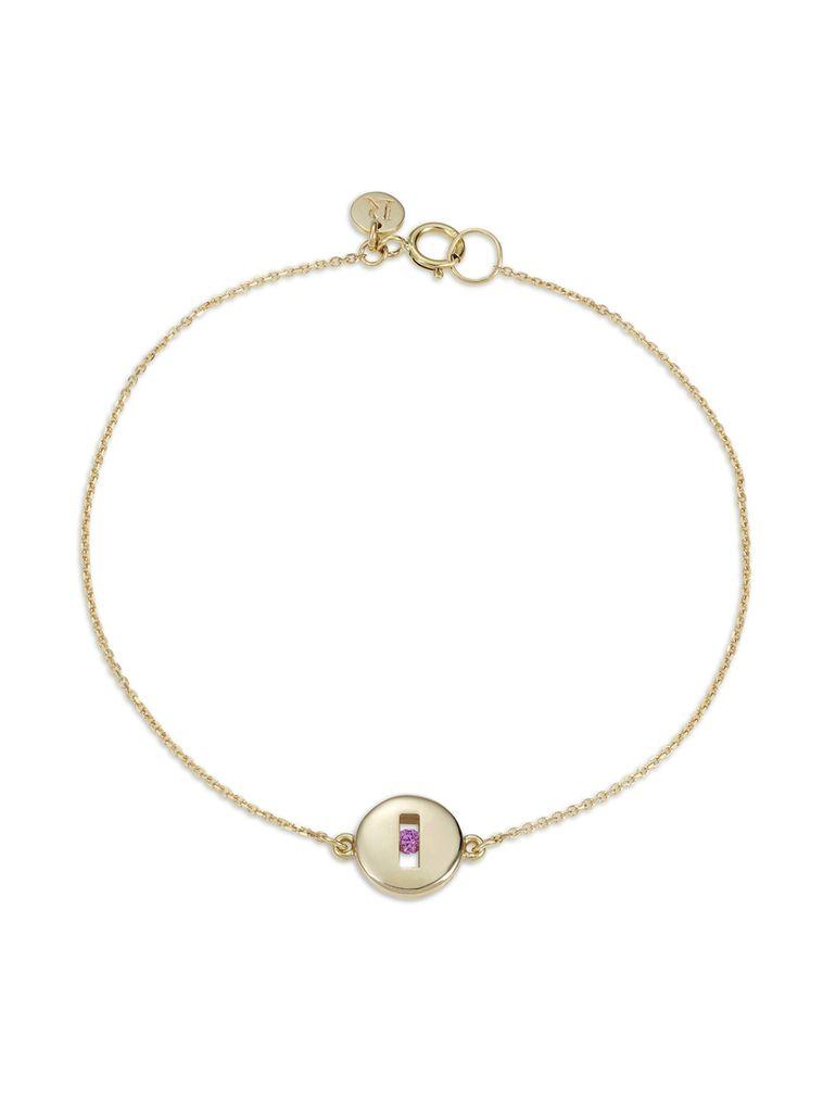 Luke Rose - Rolling Rock Bracelet - 9ct Yellow Gold - Available in Black, White, Pink, Blue, Yellow Sapphire, Tsavorite Garnet and Amethyst