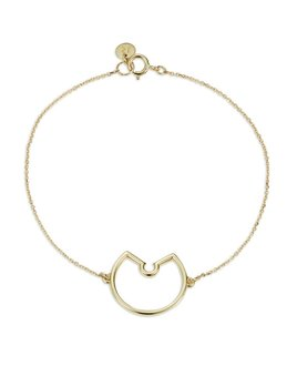 Luke Rose - Naked Hoop Bracelet - 9ct Yellow Gold