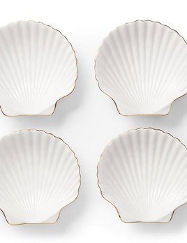 AERIN - Shell Appetizer Plates, Set of 4