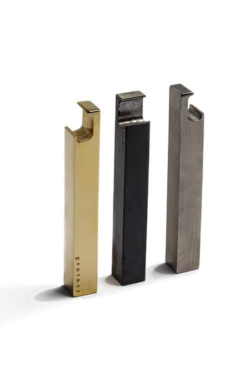 gentner Gentner Design - Bottle Opener  - raw steel, polished brass, brushed stainless steel<br />