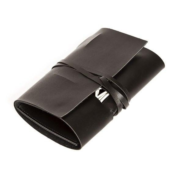 Brouk Travel Cord Roll - Black - Holds up to 8 cords, 2 plugs, and small knick knacks. A simple way to organize and stow your cords, plugs, and smaller gear.
