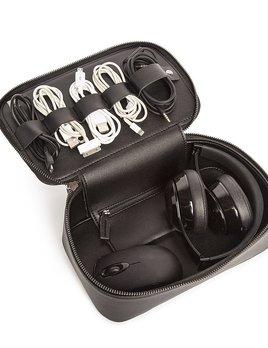 Tech Dop Kit - Black Vegan Leather Travel Case