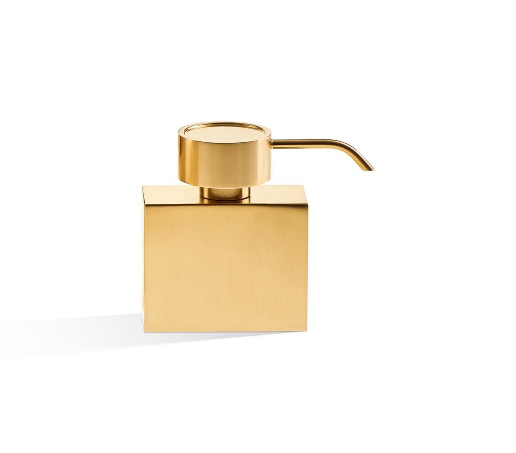 DW - Soap Dispenser Pump - Rectangular - Matte Gold - 9.5x4.5x15cm - Germany