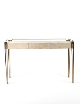 R&Y Augousti R&Y Augousti - Contemporary Desk - Antique Natural Shagreen, 124 x 60 x 75 cm