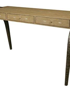 R&Y Augousti R&Y Augousti - Desk - Mink Shagreen and Metal Legs, 124 x 60 x 75 cm