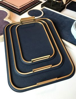 giobagnara Large  Bellini Tray - Royal Blue - 36.5x46.5cm - Giobagnara for Becker Minty - Made in Italy