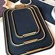 giobagnara Medium Bellini Tray - Royal Blue - 28.5x38.5cm -  Giobagnara for Becker Minty - Made in Italy