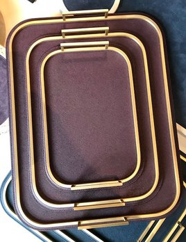 giobagnara Large Bellini Tray - Burgundy - 36.5x46.5cm - Giobagnara for Becker Minty - Made in Italy