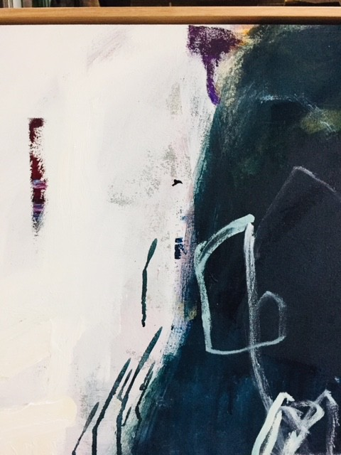 Meeting Place 2018 - Antonia Mrljak - Acrylic on Canvas, Oak Framed - 275x185cm