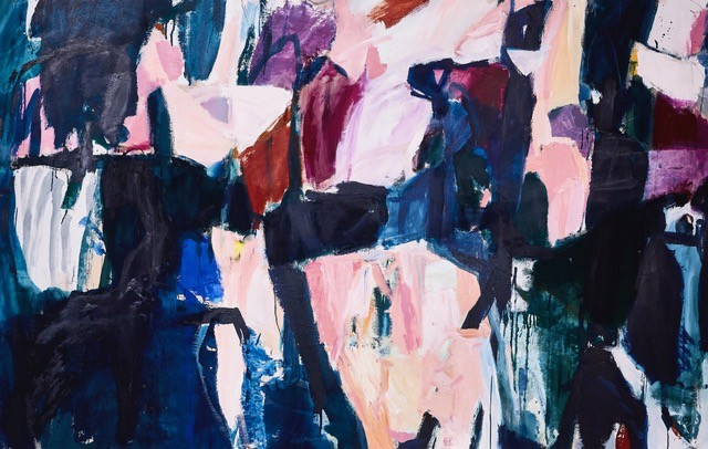Jessie 2018 - Antonia Mrljak - Acrylic and oil on Canvas, Oak Framed - 250x160cm