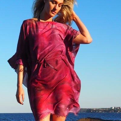 Phillip Ayers - Kaftan - Silk Cotton - Pink