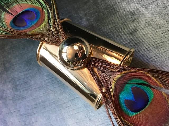 Daniel Espinosa Daniel Espinosa - Purple Rain Peacock Feather Cuff - 22ct Gold Plated