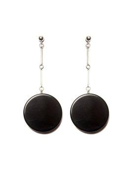 2 by lyn and tony Coda - Handmade Black Agate  Earrings on Sterling Silver By 2 by Lyn&Tony