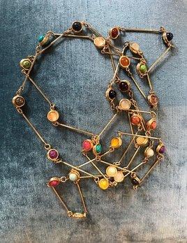 Sylvia Toledano Sylvia Toledano -  Candies - Multi Stone Necklace - Gold Plated - Paris