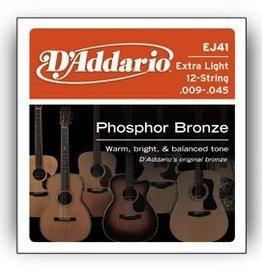 D'Addario D'Addario Extra Light 12-String Phosphor Bronze .009-.045