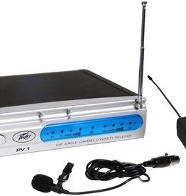 Peavey Peavey - PV1 Single Channel Wireless System w/ Lavalier Mic
