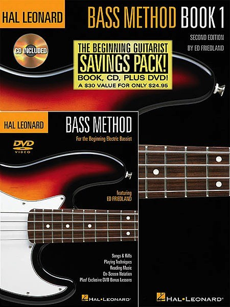 Hal Leonard Hal Leonard Bass Method Beginner's Pack: Book 1 w/ Dvd