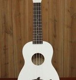 Kala Makala Soprano Ukulele w/ Shark Bridge in White