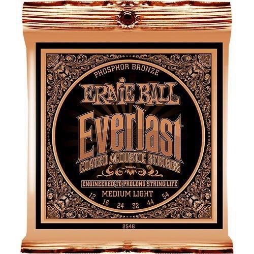 Ernie Ball Ernie Ball Everlast Coated Acoustic Strings Medium-Light 12-54s