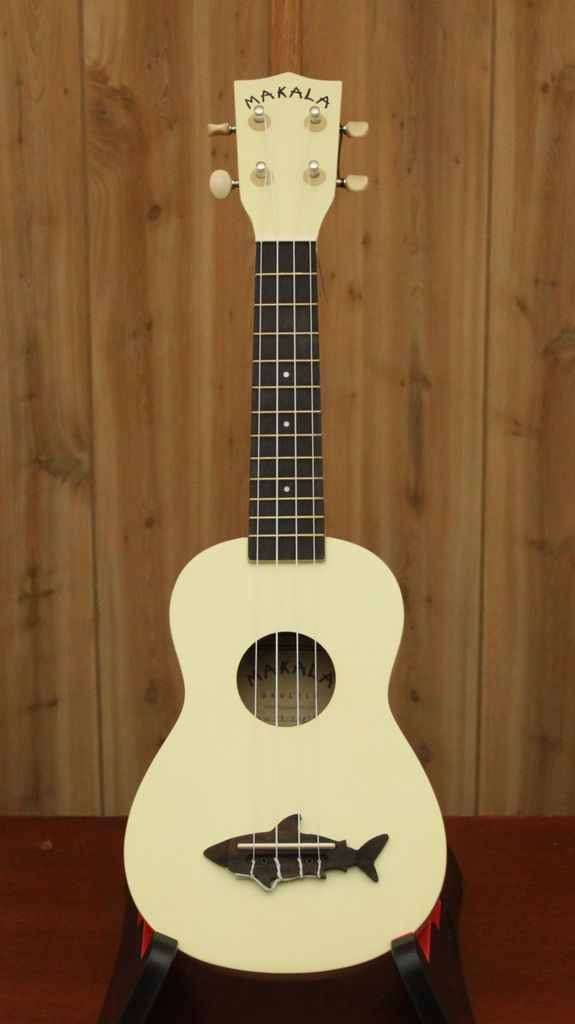 Kala Makala Soprano Ukulele in Yellow w/ Shark Bridge