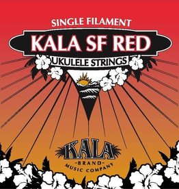 Kala Kala Red Soprano Ukulele Single Filament Strings