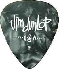 Dunlop Dunlop 12pk Celluloid Pick Thin Black Pearloid