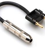 Hosa Hosa Speaker Adaptor 1/4in TS to Dual Banana