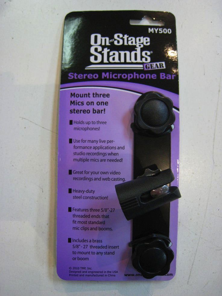 On Stage On Stage Stereo Microphone Attachment Bar