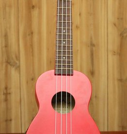 Kala Makala Soprano Ukulele w/ Shark Bridge in Red