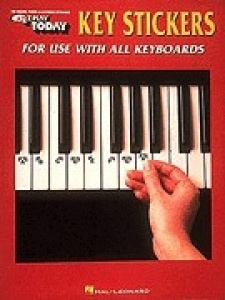 Hal Leonard Hal Leonard EZ Play Today Key Stickers for use with all Keyboards