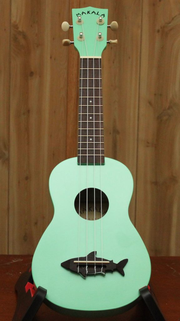 Kala Makala Soprano Ukulele w/ Shark Bridge in Sea Foam