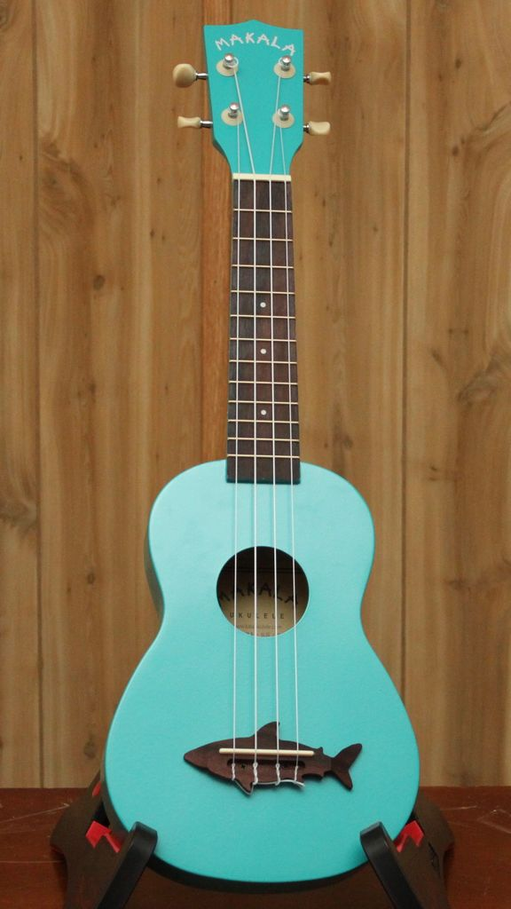 Kala Makala Soprano Ukulele w/ Shark Bridge in Blue