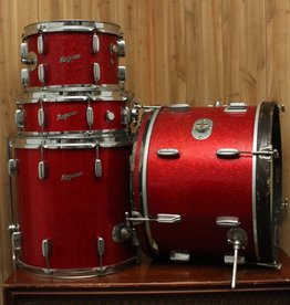 USED VIntage 60's Rodgers Holiday Drum Set Red Gloss
